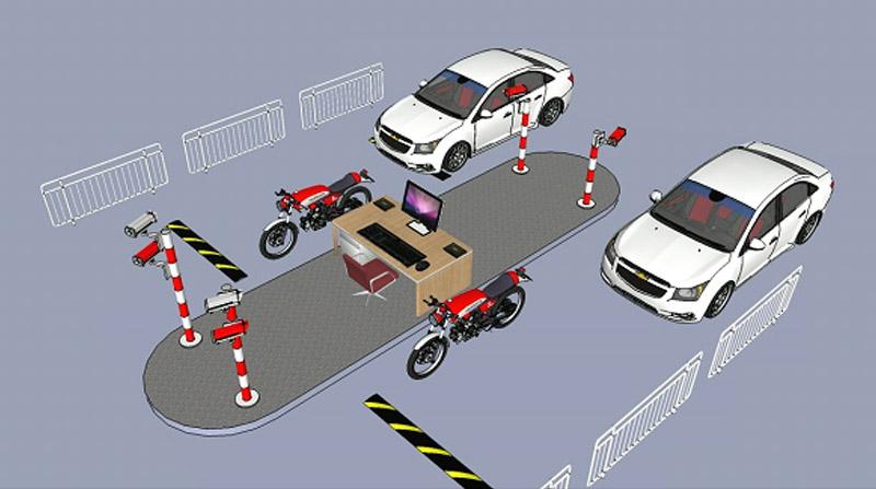 Mô hình quản lý xe thông minh 4 làn