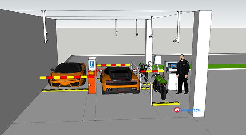 Mô hình bãi xe chung cư