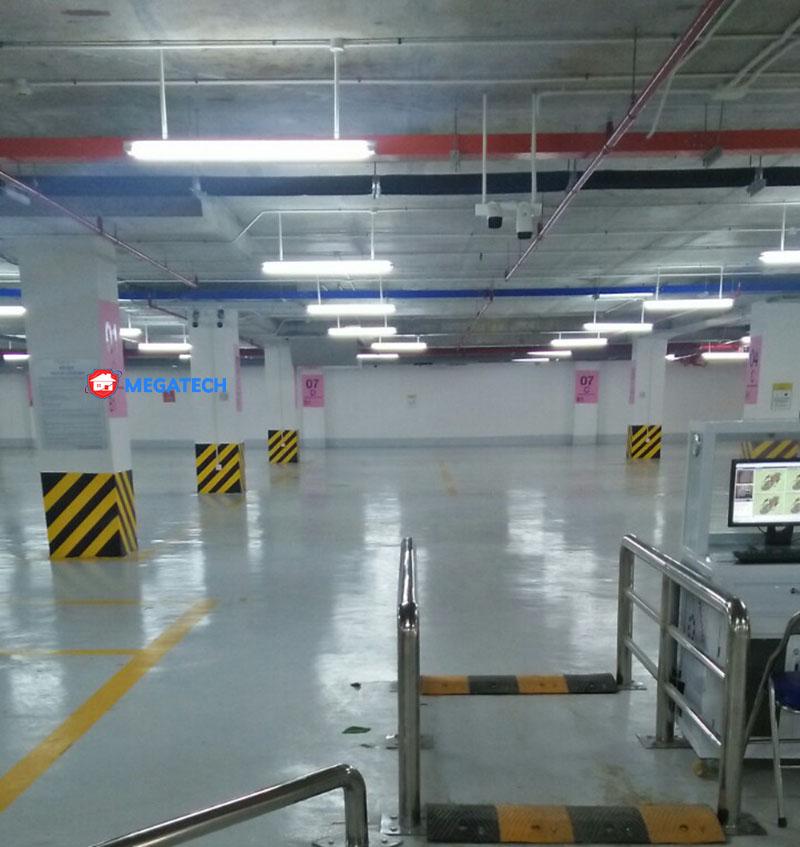 Lắp đặt bãi xe trong tầng hầm trung tâm thương mại