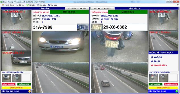 Phần mềm quản lý hệ thống bãi giữ xe thông minh