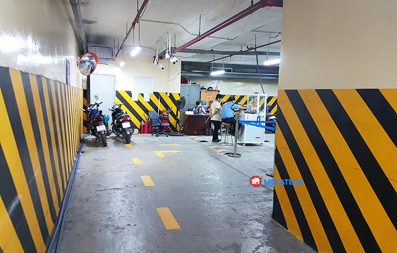 Lắp đặt thiết bị bãi xe văn phòng bidv nguyễn thị minh khai