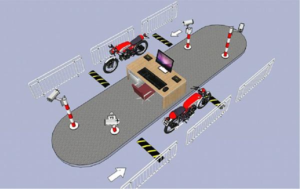 Mô hình quản lý bãi đỗ xe 1 máy 2 làn ra và vào
