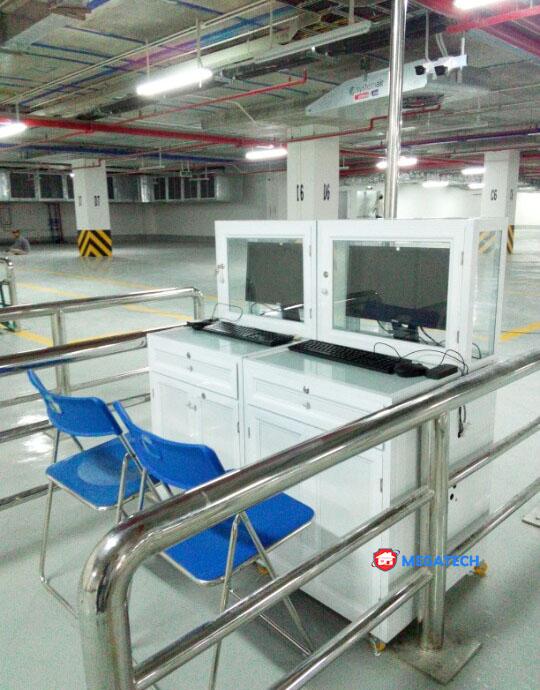 Lắp đặt hệ thống thiết bị bãi xe trung tâm thương mại vincom
