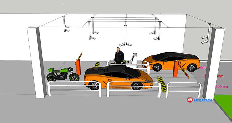 thiết kế hệ thống camera giám sát cho bãi đỗ xe
