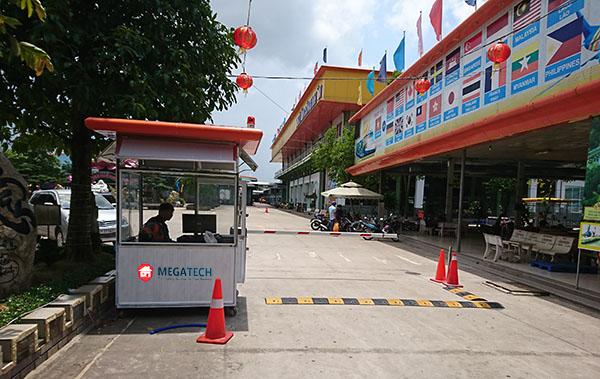 kiểm soát xe trạm dừng chân Tân Hoa Viên
