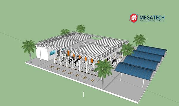 Mô hình bãi đỗ xe khu công nghiệp