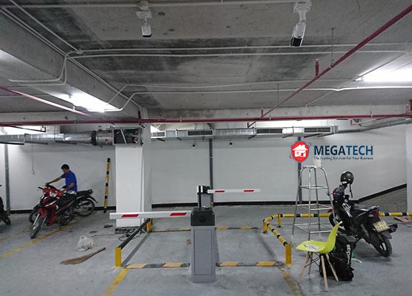 kiểm soát bãi đỗ xe tại hầm 2 của serepok
