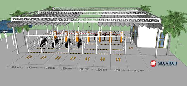 Mô hình nhiều làn là đặc trưng của giải pháp kiểm soát xe nhà xưởng