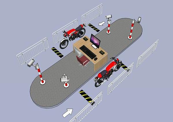 Sử dụng mô hình 1 máy 2 làn vào và ra để kiểm soát xe nhà máy GS