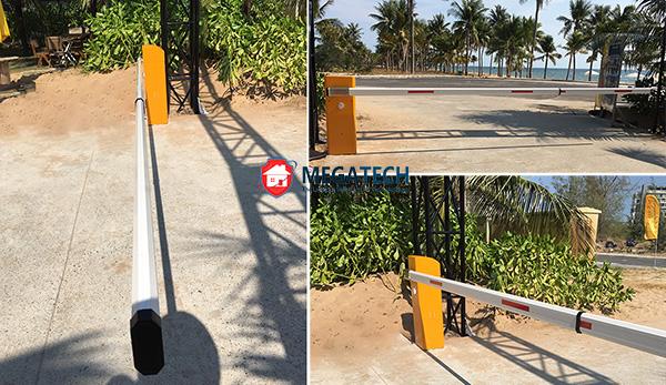 Megatech lắp cổng barrier tự động kiểm soát xe tại Sonasea Villas and Resort