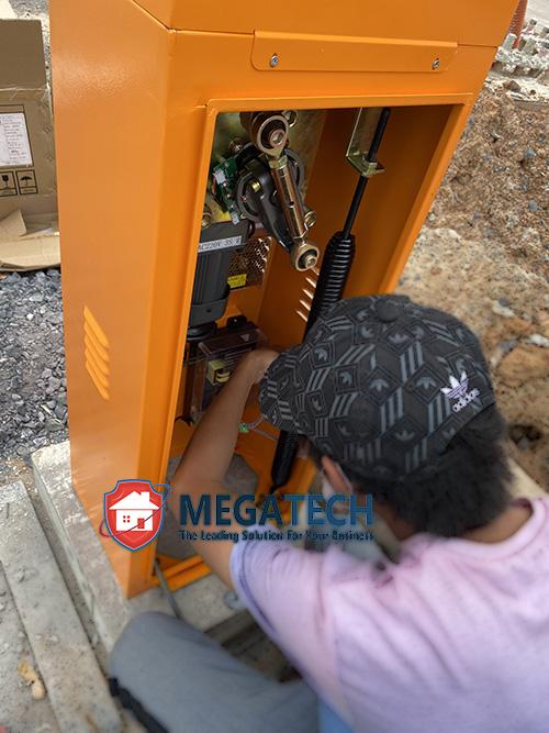 Đấu nối dây nguồn điện cho barrier