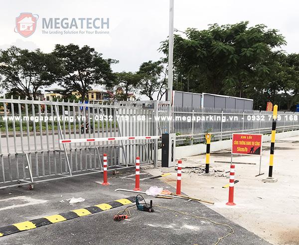 Quá trình lắp barrier tự động tại bãi xe Như Quỳnh