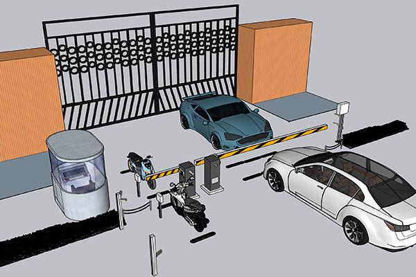 Mô hình kiểm soát xe ra vào cổng được áp dụng